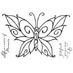 Curly Butterfly Clear Woodware Stamp (FRS259)